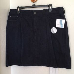 Croft & Barrow Skort 16 Blue Denim